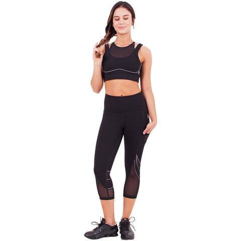 FLEXMEE 944007 Waves High-Waisted Capri Leggings | Supplex 360 - Pal Negocio