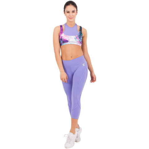 FLEXMEE 944069 Fractals Sublimated Mid Rise Capri Leggings | Supplex 360 - Pal Negocio