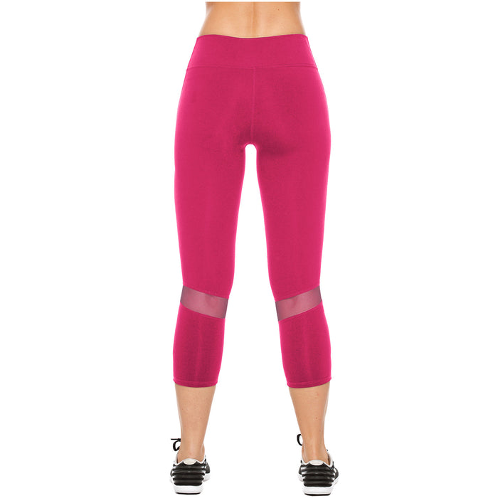 Flexmee 944103 Mid Rise Capri Leggings for Women | Supplex - Pal Negocio