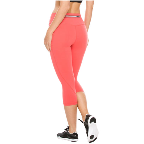 Flexmee 944210 Liberty Mid Rise Capri Leggings for Women | Supplex - Pal Negocio