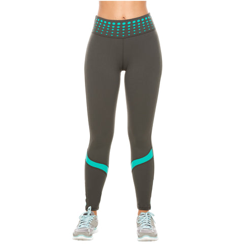 Flexmee 946010 High Waisted Tummy Control Gym Leggings for Women | Supplex - Pal Negocio