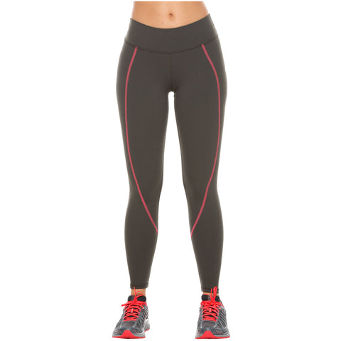 Flexmee 946011 Mid Rise Tummy Control Gym Leggings for Women | Supplex - Pal Negocio