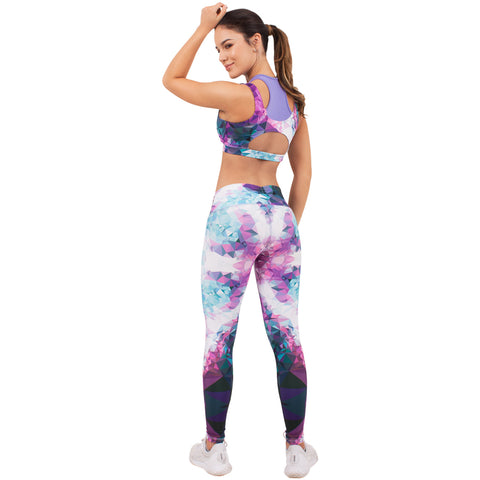 FLEXMEE 946068 Fractals Sublimated Mid Rise Leggings | Microfiber - Pal Negocio