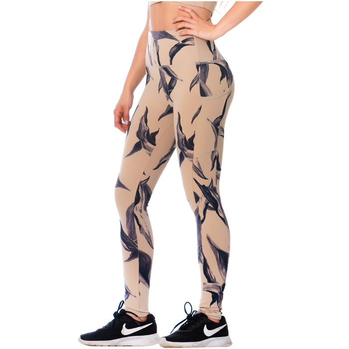 FLEXMEE 946171 High-Waisted Tummy Control Nude Leggings for Women