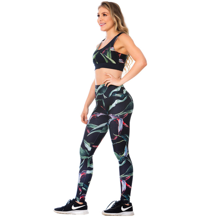 FLEXMEE Sportwear-Legging 946174 2020-1 Spring Summer Collection Color Flowers