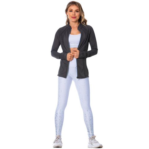FLEXMEE 980010 See-Through Gray Sports Jacket for Women