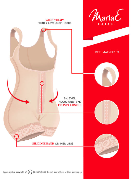 Fajas MariaE FU103 | Post Surgery Girdle Postpartum Body Shaper for Women | Open Bust & Tummy Control - Pal Negocio