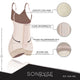 Fajas SONRYSE 066 |  Colombian Postpartum Bodysuit Shapewear | Butt Lifting Effect & Tummy Control - Pal Negocio