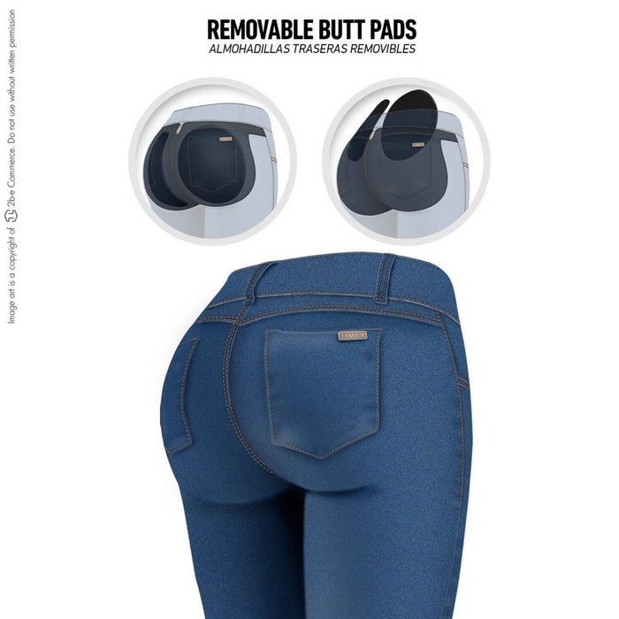 Lowla 217988 | Skinny Colombian Butt Lifter Jeans with Removable Pads - Pal Negocio