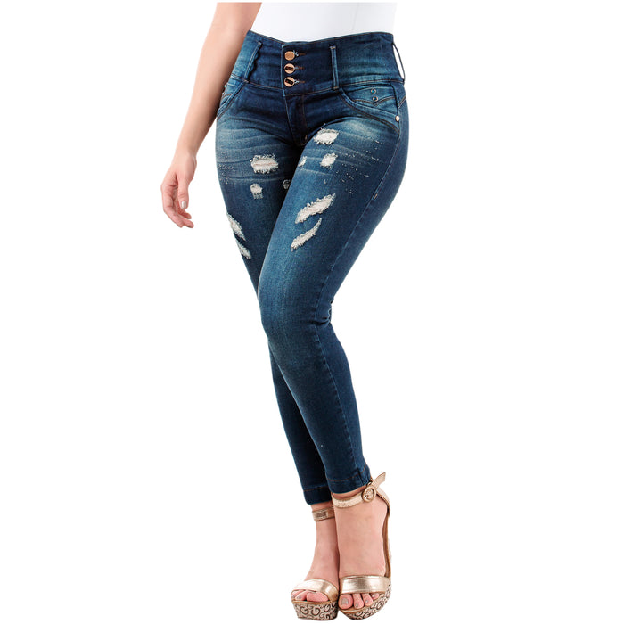 LT.Rose 2023 | Women's Colombian Ripped Skinny Butt Lifting Jeans - Pal Negocio