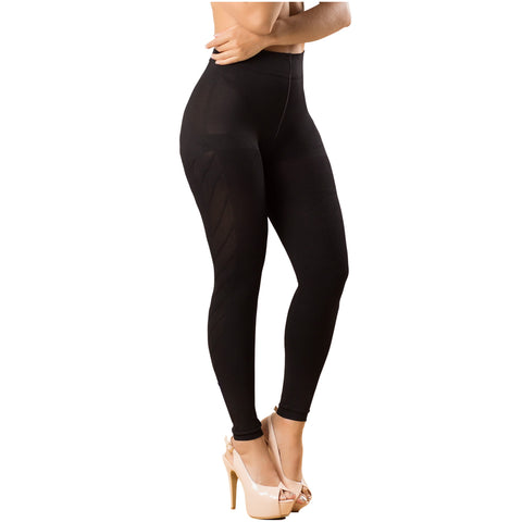 Laty Rose 21831 Media Leggins de Nylon con Diseño Levanta Glúteo - Pal Negocio