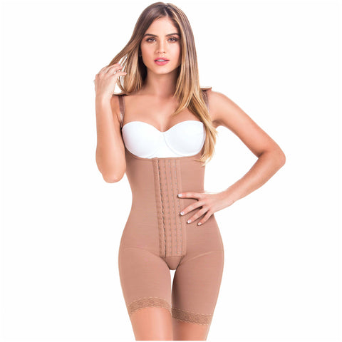 Fajas MariaE 9182T | Butt Lifting Shapewear with Shoulder Pads | Daily - Postpartum and Postsurgery Use