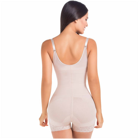 Fajas MariaE 9235 | Colombian Body Shaper Butt Lifting Postpartum Girdle Shapewear for Women | Open Bust for Daily Use - Pal Negocio