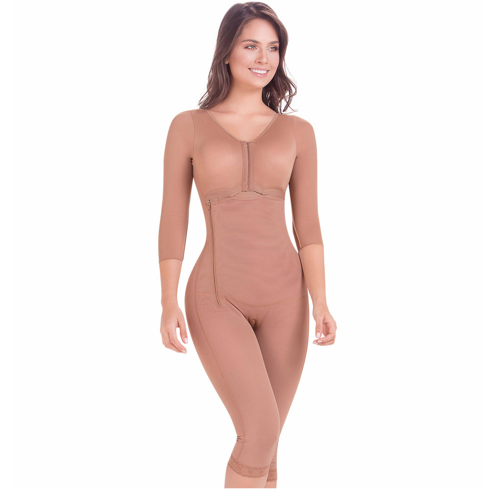Fajas MaríaE 9292 | Tummy Control Postoperative Full Shapewear with Sleeves