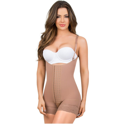 Maria 9434 Butt Lifter Mid-Thigh Bodysuit Adjustable Straps - Pal Negocio
