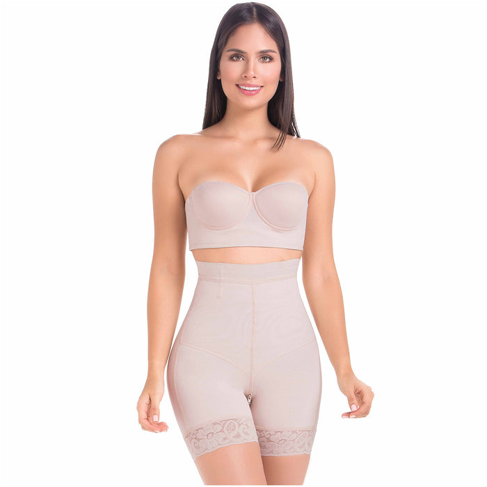 Fajas MariaE 9549 | High Waisted Butt Lifting Shapewear Shorts for Women