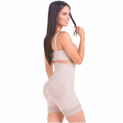 Fajas MaríaE 9549 | Butt Lifter High Waisted Tummy Control Shapewear Shorts
