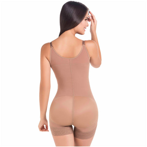 Fajas MariaE 9633 | Postpartum Boyshort Body Shaper for Women | Strapless with Side Zipper - Pal Negocio