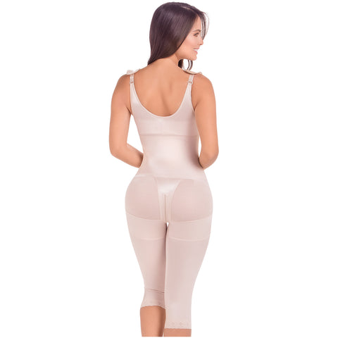 Fajas MariaE 9702 | Postsurgical Full Body Shaper for Women | Open Bust with Front Closure - Pal Negocio