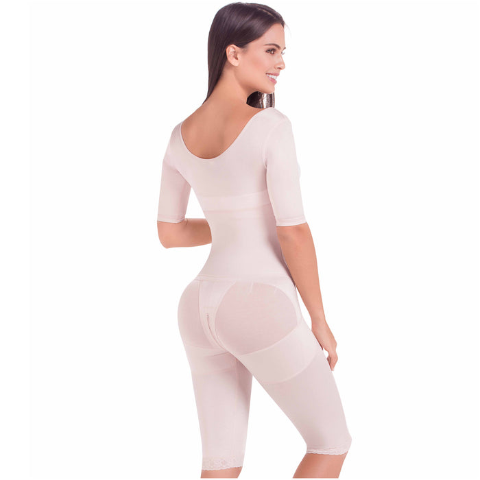 Fajas MariaE FQ104 | Post Surgery Shapewear | Full Body Shaper with Sleeves