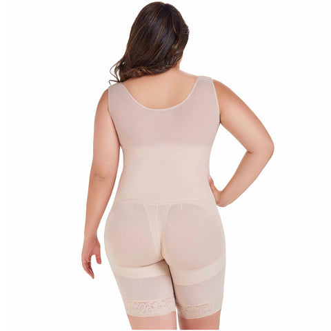Fajas MariaE FU104 | Postsurgical Body Shaper for Daily Use | Open Bust & Mid-thigh - Pal Negocio