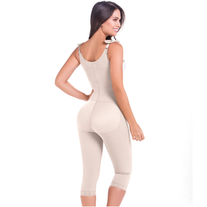 Fajas MariaE 9442 | Capri Full Body Shaper for Women | Butt Lifter & Tummy Control Post Surgery Girdle