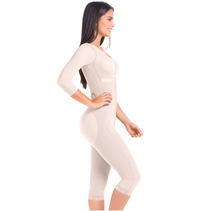 Fajas MariaE 9562 | Post Surgery Full Body Shapewear with Sleeves