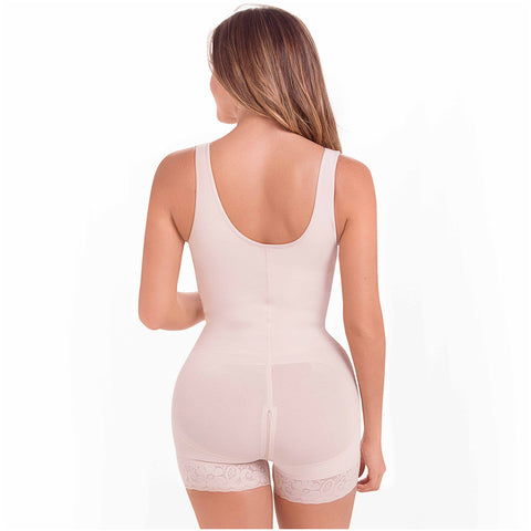 Fajas MariaE 9831 | Postpartum Butt Lifting Body Shaper for Daily Use | Open Bust with Front Zipper - Pal Negocio