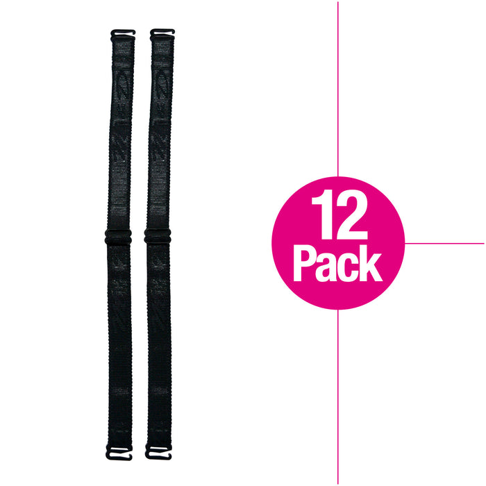 Fajas MYD 01250 Removable and Adjustable Wide Bra Straps - 12 Pack - Pal Negocio