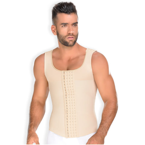 Fajas MYD 0060 Compression Vest Shirt Body Shaper for Men / Powernet - Pal Negocio