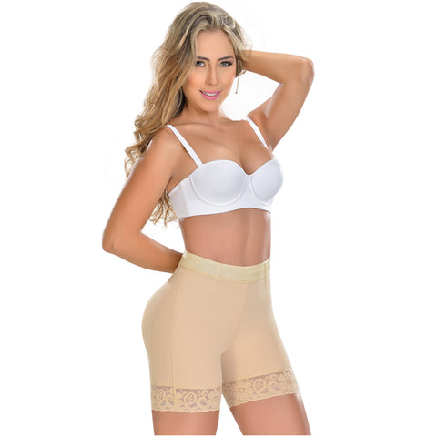 Fajas MYD 0322 Women's Thigh Slimmer High Waist Shapewear Shorts / Powernet - Pal Negocio