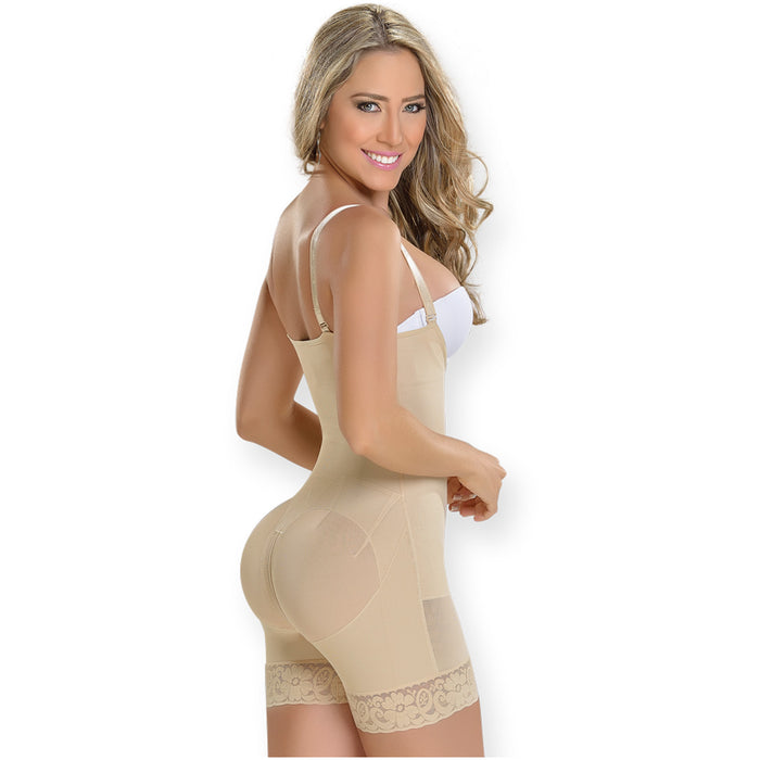 Fajas MYD 0069 Mid Thigh Strapless Body Shaper for Women / Powernet - Pal Negocio