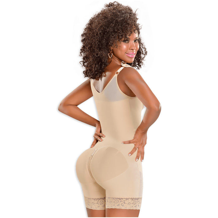 Fajas MYD 0083 Mid Thigh Bodysuit Body Shaper for Women / Powernet - Pal Negocio