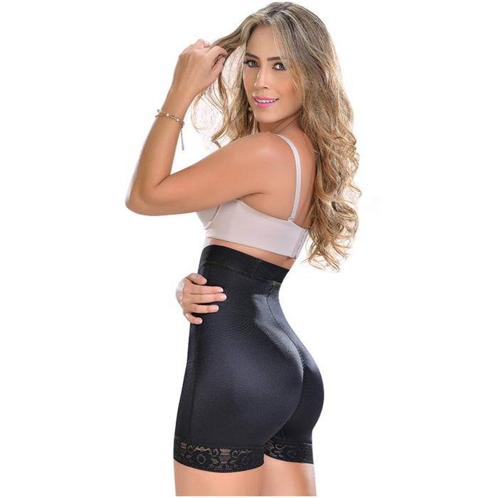 Fajas MYD 0216 Extra High-Waisted Compression Shorts Body Shaper for Women /  Powernet - Pal Negocio