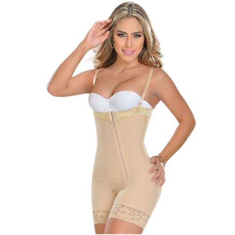 Fajas MYD 0766 Mid Thigh Strapless Body Shaper for Women / Powernet - Pal Negocio