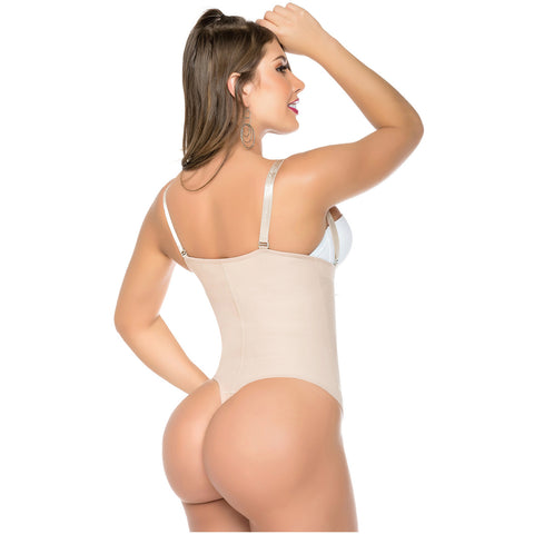 Fajas Salome 0212 | Strapless Thong Body Shaper | Everyday Use Tummy Control Shapewear Girdle for Dress - Pal Negocio
