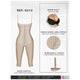 Fajas Salome 0213 | Post Surgery Butt Lifter Full Bodysuit | Open Bust Knee Length Body Shaper for Women | Powernet - Pal Negocio