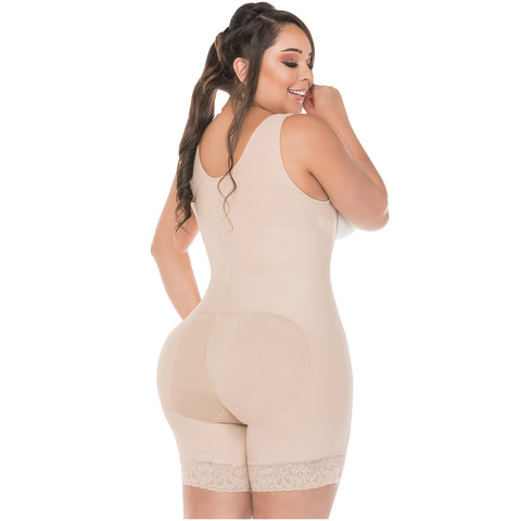 Fajas Salome 0217 Mid Thigh Firm Compression Full Body Shaper / Powernet - Pal Negocio