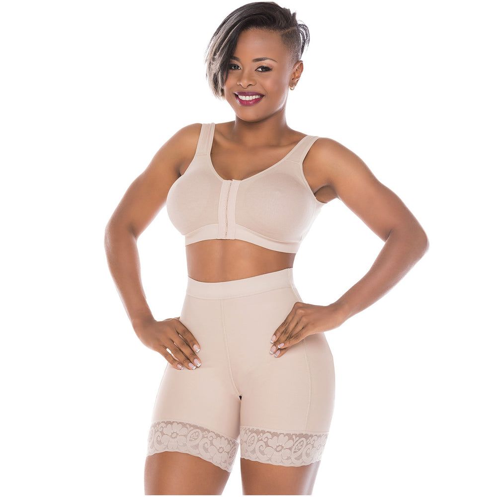 Fajas Salome 0319 | BBL Compression Shaper Shorts for Women | Tummy Control Butt Lifter Mid Thigh Shapewear Shorts | Powernet - Pal Negocio