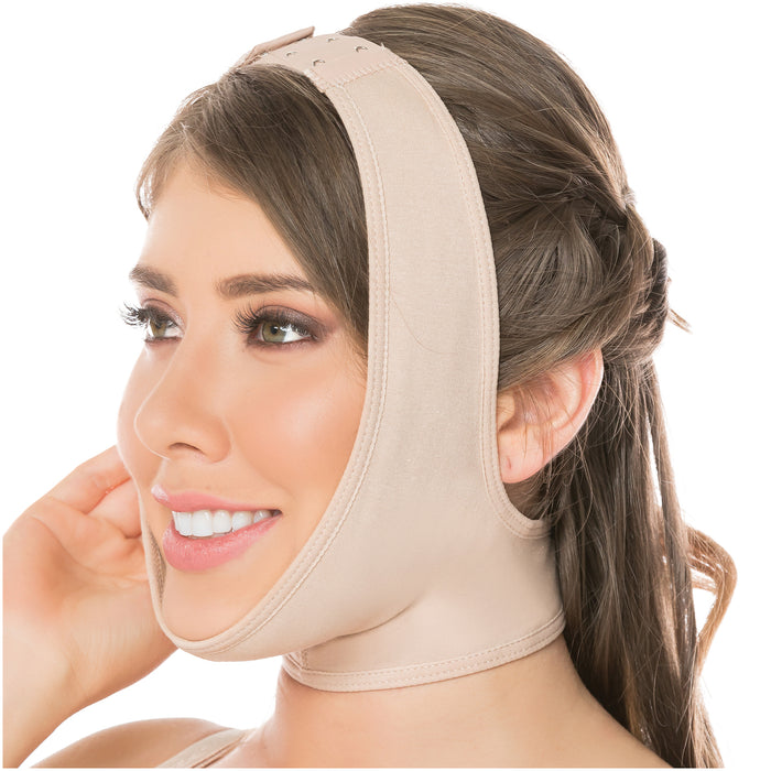 Fajas Salome 0322 | Post Surgery Chin Compression Slimmer Strap for Women | Powernet - Pal Negocio