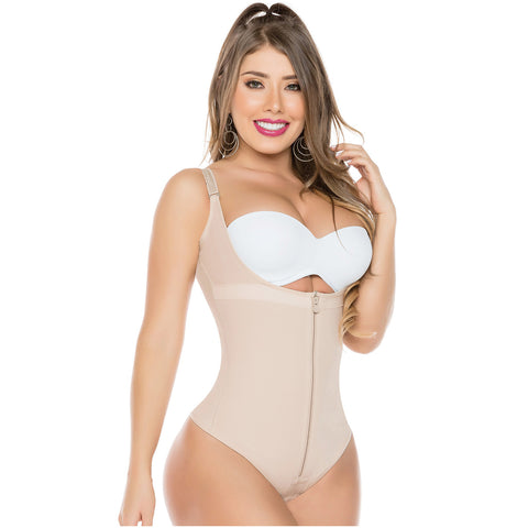 Fajas Salome 0351 | Open Bust Thong Tummy Control Shapewear for Women | Powernet - Pal Negocio