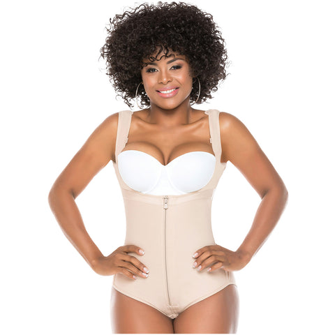 Fajas Salome 0419 | Butt Lifter Hiphugger Mid Thigh Body Shaper | Open Bust.Tummy Control Shapewear for Women | Powernet  - Pal Negocio