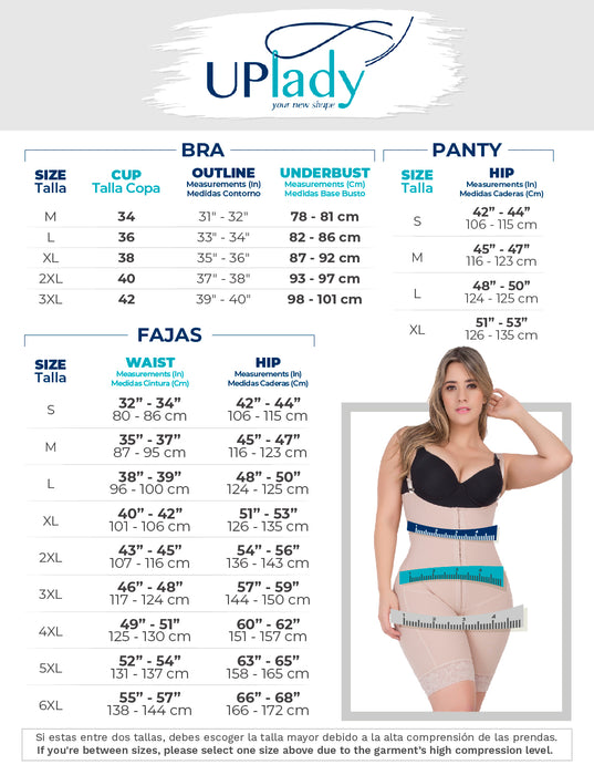 UpLady 8542 |Extra Firm Control Full Cup Bra with Side Support