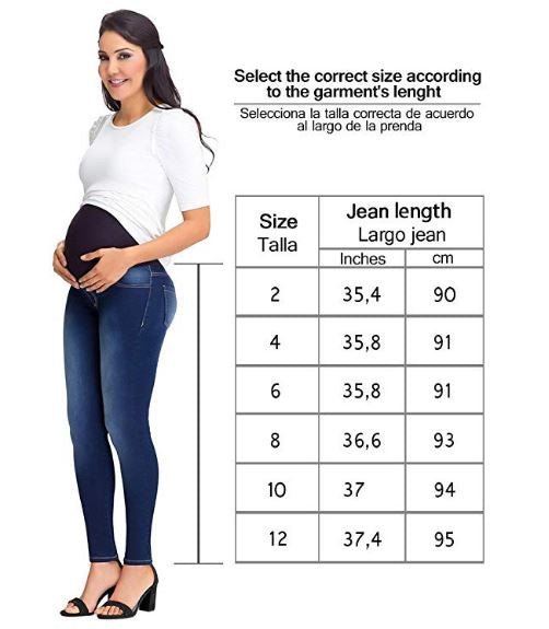 Lowla 219900 | Maternity Skinny Jeans with Baby Bump Elastic Band - Pal Negocio