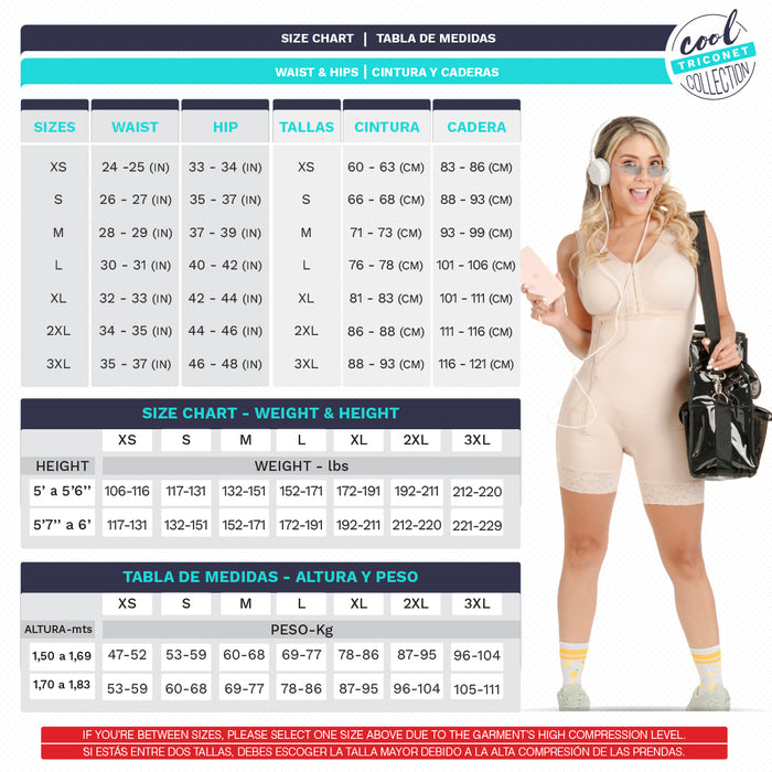 Fajas SONRYSE TR53 | Colombian Shapewear for Women | Post Surgery & Everyday Use | Triconet