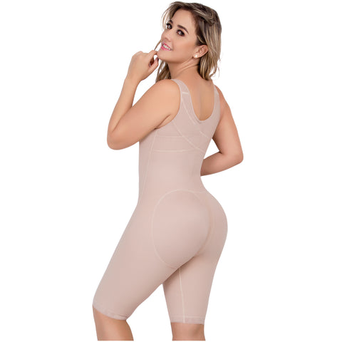 UPlady 6172 | Open Bust Tummy Control Butt Lifter Knee Length Bodysuit - Pal Negocio