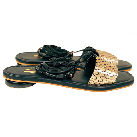 Santos Flat Sandals Black - Pal Negocio