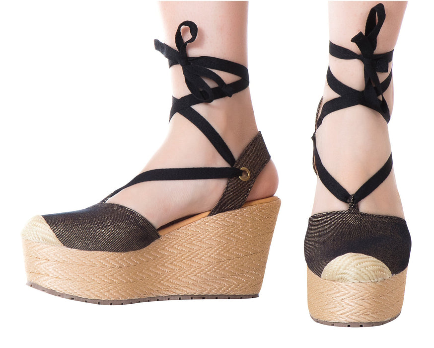 Silvia Cobos Lace Up Black - Pal Negocio