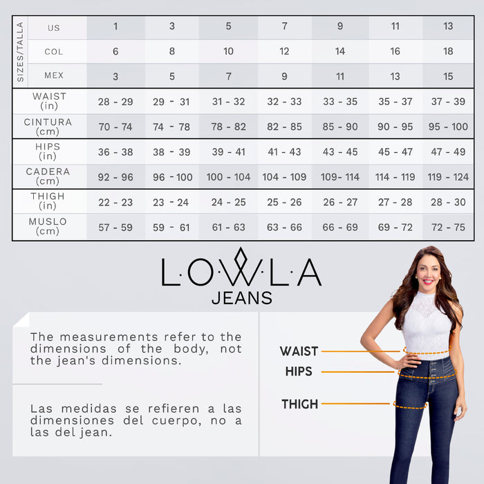 LOWLA 21892 | Skinny Butt Lifting Mid Rise Jeans - Pal Negocio