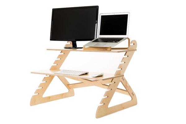 Wooden Flat Style Adjustable Stand-up Desk - ModiDen
